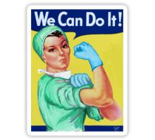 Rosie the Riveter Medical or Surgical Doctor  Sticker