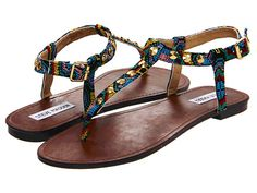 #COLORSOFSUMMER Steve Madden Virrtue. These are my favorite sandals to wear even when it's not summer! :P I love the ikat print and the gold hardware on these. Definitely my style!