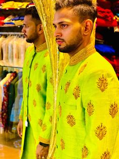 The Effective Pictures We Offer You About Groom Outfit vintage A quality picture can tell you many things. You can find the most beautiful pictures that can be presented to you about Groom Outfit trad Indian Groom Wear, Indian Wear, Night Outfits, Winter Outfits, Indian Fashion, Mens Fashion, Achkan, Pistachio Green, Groom Outfit