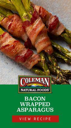 Bacon Recipes, Vegetable Recipes, Appetizer Recipes, Chicken Recipes, Cooking Recipes, Healthy Recipes, Appetizers, Bacon Wrapped Asparagus, Asparagus Recipe