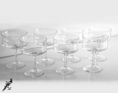 Vintage Set of 7 Lenox Dimension Champagne by TheCordialMagpie