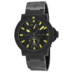 Ulysse Nardin Black Sea Black and Yellow Dial Black Rubber Men's Watch 263-92-3C-924 - Limited Edition - Ulysse Nardin - Shop Watches by Brand - Jomashop