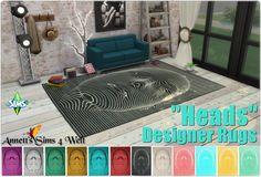 """Annett's Sims 4 Welt: Designer Rugs """"Heads"""""""