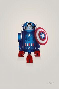 New in the Shop: R2-D2 Mashed Up with Superheroes by Steve Berrington - My Modern Met #StarWars #StarWarsArt #Art