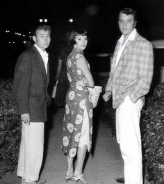 Elvis and young actor Nick Adams and actress Nathalie Wood in september 10  1956. Nathalie Wood died in 1981 and Nick Adams commited suicide in 1968.