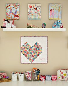 Valentine's Quilted Heart with Jemima Flendt