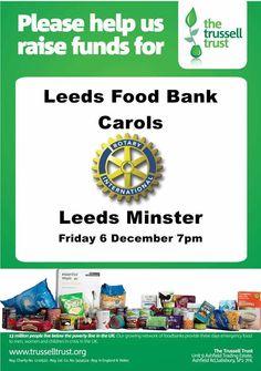 Leeds Rotary Carol Service 2013 - Leeds Food Banks