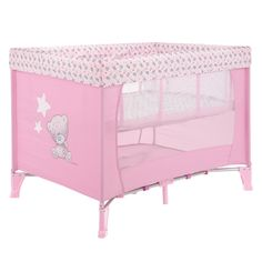 Tiny Tatty Teddy #Travel #Cot Pink available online at http://www.babycity.co.uk/