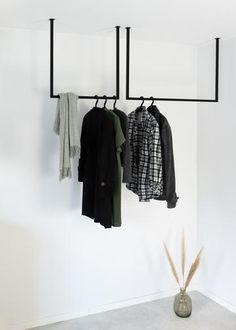 Clothes Rail, Loft Style, Bathroom Interior Design, Room Decor Bedroom, Wardrobe Rack, Room Inspiration, Interior Architecture, Living Spaces, Sweet Home
