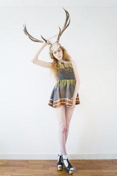 Taxidermy fashion editorial
