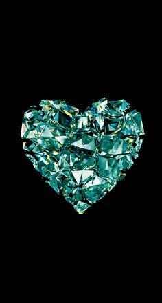 heart on black Bling Wallpaper, Diamond Wallpaper, Heart Wallpaper, Love Wallpaper, Cellphone Wallpaper, Screen Wallpaper, Iphone Wallpaper, Heart Art, Love Heart