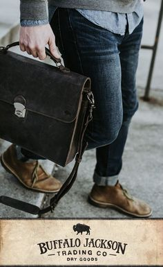 Men's vintage brown leather attache case. This briefcase bag fits up to 15-inch laptops. Handcrafted to handle a lifetime of business, luxury, adventure, and more. Rugged leather products to rival any you'll find from Crazy Horse, Michael Kors, Nordstrom - you name it. Classic gift for him.