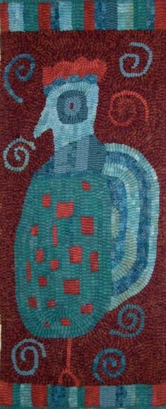 Rooster Vermont Folk Rugs Hooked Rug Kit