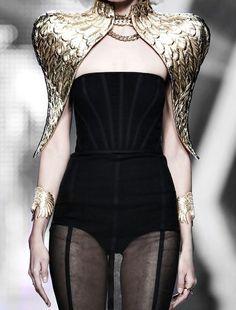 #moodboard #nature #inspiration #woman #natural #golden #wings #bird #coat #fashion #hautecouture