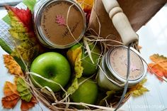 Apple Pie Bushel Basket Kit + printable recipe tag.Two Shades of Pink