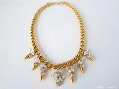 #DIY Crystal Spike Necklace