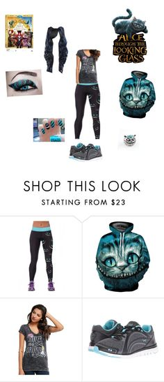 """""""cheshire cat"""" by pineapplesyay ❤ liked on Polyvore featuring Disney, Rykä, contestentry and DisneyAlice"""
