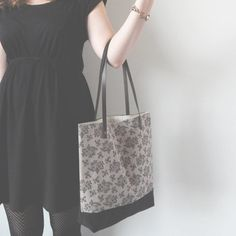 Hand Printed Floral Tote Bag Made to Order by createdbyhannah, £45.00