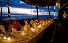 The 10 Coolest Restaurant Patios in America ~ #5 BEACH HOUSE RESTAURANT, KAUAI ... With a name like Beach House and a location like Kawai, you can probably imagine what makes this restaurant's patio a must-visit. In reality, the entire restaurant is essentially a patio, because it's been designed so that every table looks out through open walls to a lawn and the Pacific Ocean beyond, and it's one of the few places on the island to dine waterside.