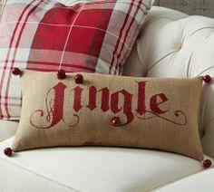POttery barn Christmas cushion..