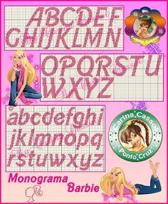 Barbie alphabet chart
