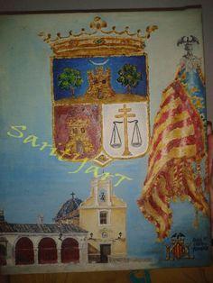 Paisaje pintado con ceras sarityart cuadros pintados a - Cuadros modernos valencia ...