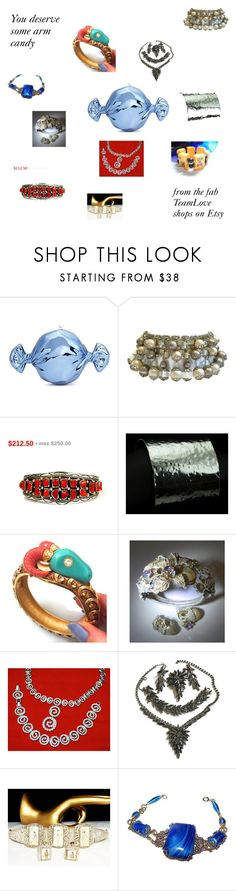 Vintage Bracelets from TeamLove on Etsy by findcharlotte on Polyvore featuring Judith Leiber, vintage, armcandy, vintagejewelry and vintagebracelets