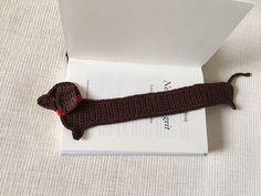 Crochet Dauchshund Bookmark, Funny Dog bookmark, Handmade cute Bookmark, Crochet Dauch Hund, Crochet Mouse $11,33 etsy