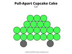 Car Pull-Apart Cupcake Cake Template