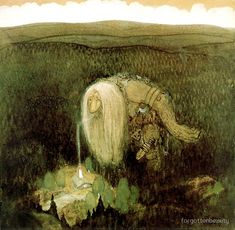 A Forest Troll Painting by John Bauer Reproduction John Bauer, Edmund Dulac, Wall Art Prints, Canvas Prints, Fairytale Art, Oil Painting Reproductions, Photo Wallpaper, Les Oeuvres, Illustrators