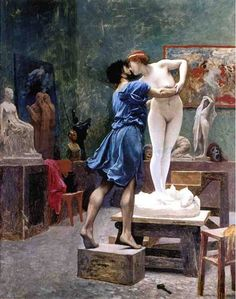 Jean-Leon Gerome Pygmalion and Galatea 2 oil painting for sale; Select your favorite Jean-Leon Gerome Pygmalion and Galatea 2 painting on canvas and frame at discount price. Gustav Klimt, Frederick Leighton, Jean Leon, Art Gallery, The Embrace, Pre Raphaelite, Greek Mythology, Caravaggio, Oeuvre D'art