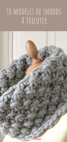Easy knitting: 30 models of knitting snoods accessible to beginners! Crochet Snood, Crochet Blanket Edging, Crochet Baby Cardigan, Crochet Flower Patterns, Knitting Patterns, Drops Design, Snood Pattern, Minecraft Pixel Art, Easy Knitting