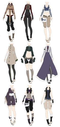 anime clothes Naruto Outfit Adoptables 2 [CLOSED] by on DeviantArt Fashion Design Drawings, Fashion Sketches, Character Outfits, Character Art, Character Sheet, Anime Uniform, Kleidung Design, Clothing Sketches, Anime Dress