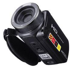 3.0 inch 1080P FHD Video Camcorder Night-shot 24MP Digital Camera With Remote Control Sale - Banggood.com