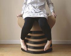 Cork Fold le tabouret de liège par Chengtao Yi