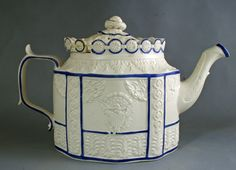 Felspatic stoneware teapot made for the American market circa 1810.