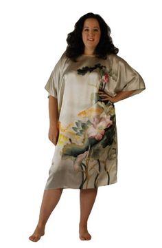 GIVES ME AN IDEA--Silk Sleepshirt for Women - 100% Silk Hand Painted ( VIP Fashion Australia www.vipfashionaustralia.com - international clothes shop )
