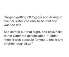 Calypso didn't know Zöe but still its cute