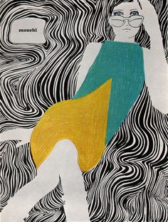 Illustration for a fashion journal from the mid-1960s by Mouchy.