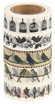 Amazon.com: Washi Tape (Japanese Masking Tape) by MIKOKA, 0.6 Inches Wide, 32.8 Feet Long, Set of 5 - Flowers: Arts, Crafts & Sewing
