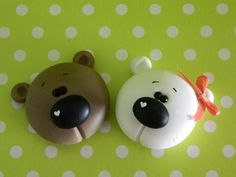 cute little bear heads (would make cute earrings) or larger ones for ornamentsl