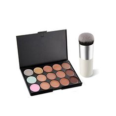 Pure Vie Pro 1 Pcs Make Up Brushes  15 Colors Cream Concealer Camouflage Makeup Palette Contouring Kit for Salon and Daily Use *** Learn more by visiting the image link.