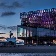 One evening in Reykjavik  #iceland #icelandair #harpa #evening #nikon #bluesky #ship #glass #absoluteiceland #scandinaviaclub #everydayiceland #typicalscandinavia #romantic #исландия #путешествие #никон #travel by quasituttodigiulia