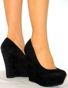 comfy womens outfits | Sexy Closed Toe Shoes Comfy High Heel Platform Covered Wedge Pumps ...