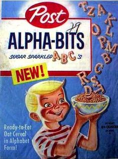 """Alpha-Bits cereal was invented by a father of seven named Thomas M. Quigley who worked for Post Cereals. The cereal was introduced in 1958, and was taken off the market in 2006. However, Alpha-Bits reappeared for sale in January 2008 with a new formulation, touting """"0% Sugar!"""" as a """"Limited Edition"""" cereal. The old recipe was reintroduced later in 2008."""