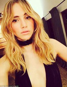 Suki Waterhouse shared this selfie on Tuesday, writing, '@balmainparis mmm'
