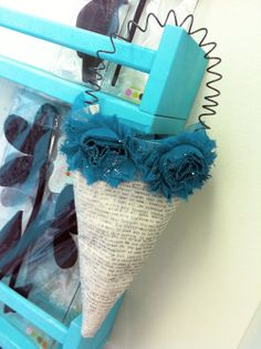 Tussie mussie turquoise-