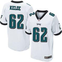 cdbd4a3174c (Philadelphia Eagles Jason Kelce Elite Nike Men s White Jersey) NFL Road  62
