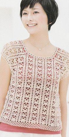Discover thousands of images about crochet & knitting , handmade , handicraft, creative ideas, Chunky Crochet, Free Crochet, Crochet Top, Crochet Flower Patterns, Knitting Patterns Free, Knitting Wool, Baby Knitting, Diy Crafts Crochet, Cardigan Design