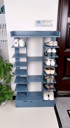Wooden Shoe Rack Designs, Wooden Shoe Racks, Wooden Shoe Cabinet, Wooden Closet, Wooden Cabinets, Furniture For Small Spaces, Home Decor Furniture, Furniture Design, Furniture Storage